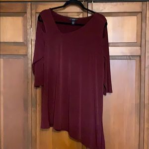 Tunic with cut outs at shoulders